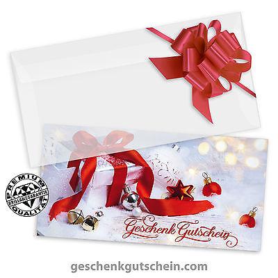 """Weihnachts-Geschenkgutscheine /""""DINlang/"""" für alle Branchen X9288"""