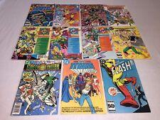 Lot of 11 DC Comic Books:Flash 346, Hawkman 2, Green Lantern, Titans +MORE! VGC!