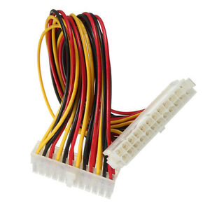 24 Pin Male to 24 Pin Female PC PSU ATX Power Extension Cable Cord