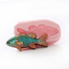 Silicone Mold Fish - Jewelry Resin Clay Mold Food Safe Mint Candy Fondant (899