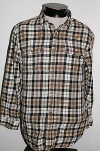 VANS Mens medium M Plaid Flannel Button-up shirt Combine ship Discount