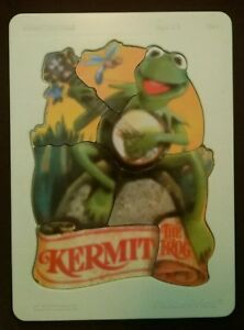 Rare-Vintage-1981-Fisher-Price-Kermit-the-Frog-Wooden-Puzzle-541-w-plastic-tray