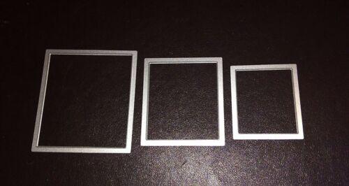 Sizzix DIE Cutter 3 X Rectángulo formas rectángulos Thinlits Fit Big Shot
