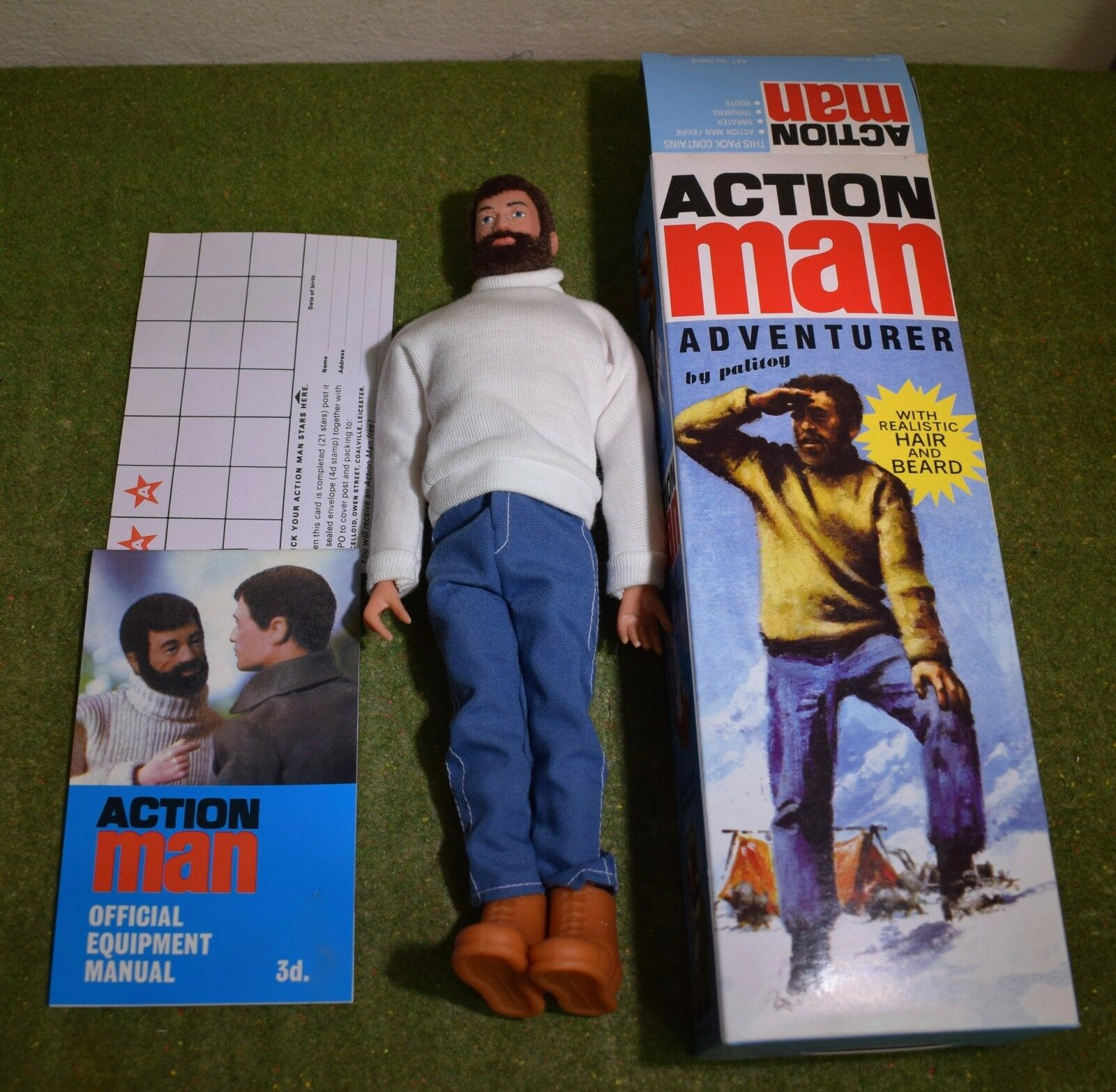 ACTION MAN 40th BOXED ADVENTURER BROWN BEARDED w  HARD HANDS 1 6 SCALE