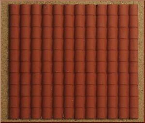 Flächenvorhang Kunststoff Dach Dachziegel Groß Rot 35X25CM Zubehör Krippe