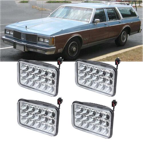 For Oldsmobile Custom Cruiser Cutlass  Delta Firenza 88 4/'/'x6/'/' LED Headlight