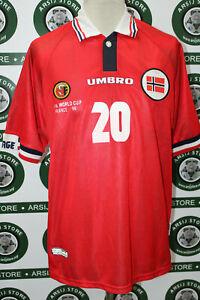 maglia-calcio-SOLSKJAER-NORVEGIA-TG-L1998-shirt-maillot-trikot-camiseta
