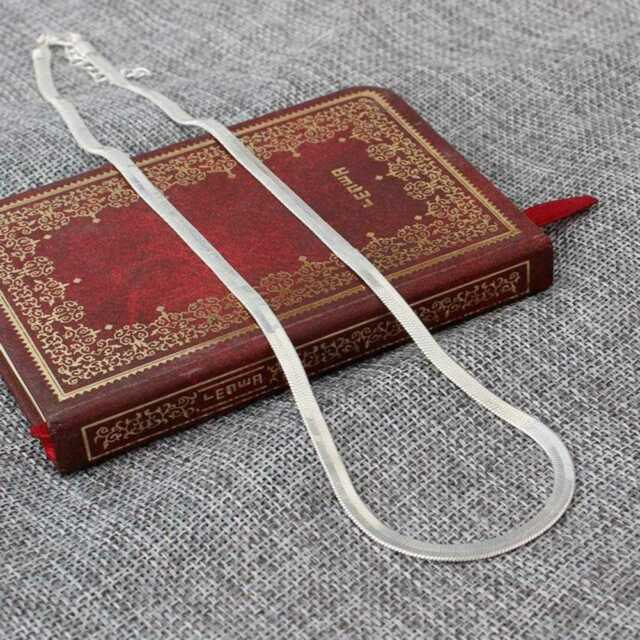 Legierung Silber Flach Farbe Schlange Knochen Halskette Charme männlichen Sale