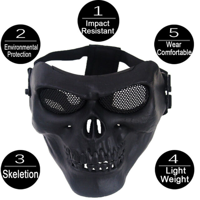 Ski Cool Skull Multi Intball Cs Face Mask Bike Motorcycle Outdoor Sports Wear For Sale Online Ebay