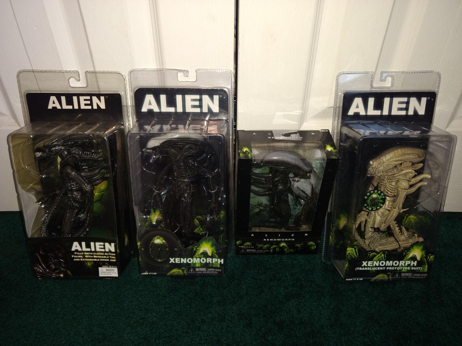 NECA Alien Xenomorph Lot ALL MISP  Alien + Xenomorph Boxed & Translucent Suit