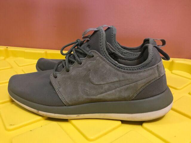 new product 7ab57 d26d5 Nike Roshe Two BR Mens Running Shoes Trooper/White/Black 898037-200 Sz 9  Sneaker