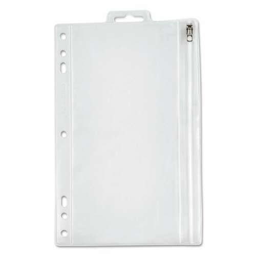 9 1//2 x 6 Oxford Zippered Ring Binder Pocket Clear 089612685997
