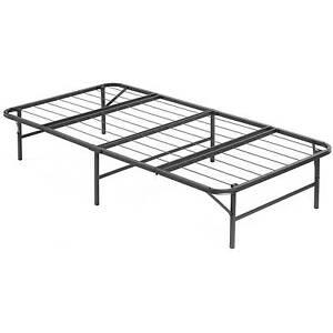 twin xl steel mattress platform bed frame base raised heavy duty metal folding. Black Bedroom Furniture Sets. Home Design Ideas