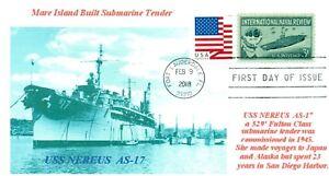 Uss-Nereus-AS-17-USN-Sottomarino-Tender-San-Diego-Foto-Marchio-Primo-Giorno