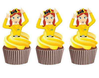 12 EMMA WIGGLE WIGGLES STAND UP EDIBLE CUPCAKE CAKE ...