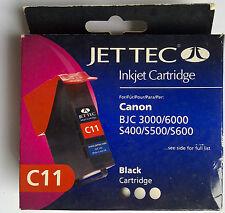 JET TEC C11 Black For Canon BJC 3000/6000 S400/S500/S600 Multipass C100 MPC600