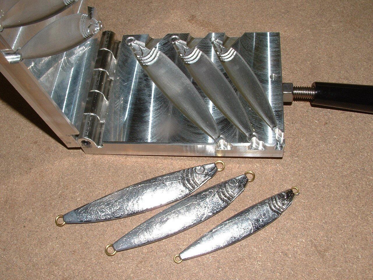Plantilla de peces de agua salada Molde de -2 2,3,4oz CNC Aluminio