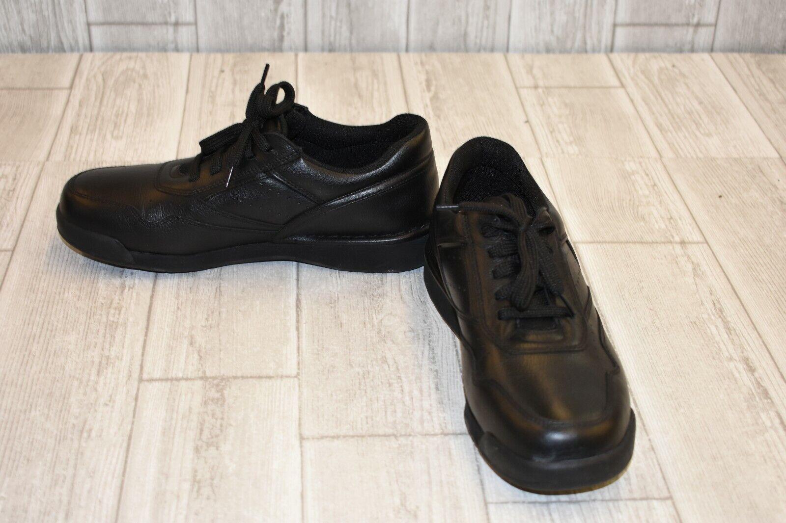 Rockport ProWalker M7100 Leather Walking shoes, Men's Size 7W, Black