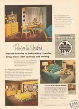 1950s vintage HEYWOOD WAKEFIELD Modern Scaled FURNITURE Dining Room Table AD