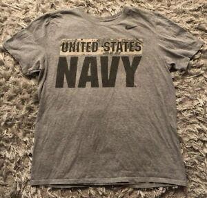 Nike-US-United-States-Navy-Double-Sided-T-Shirt-Size-Men-s-Large-Athletic