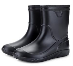 men rain boots waterproof nonslip water garden kitchen