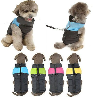 Pet Dog Cat Puppy Winter Warm Clothes Vest Jacket Coat Costume Apparel New