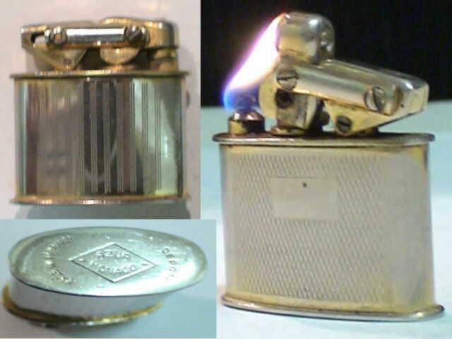 Briquet ancien * MONACO semi-auto Systeme KW * Wick Lighter Feuerzeug Accendino