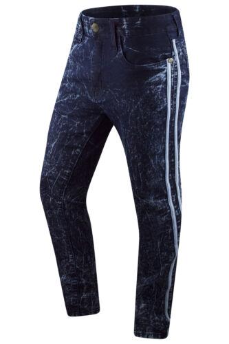 New Men Denim Track Jeans Skinny Fit Jeans Premium Material Sizes 32-44 Black