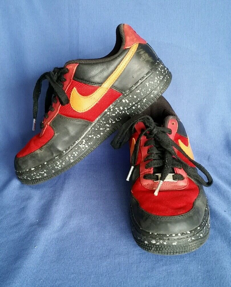 Nike Air Men's shoes Leather Leather Leather Size 12M Multi colord Athletic Sneakers 1f8e85