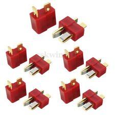 5 Male + 5 Female Set T-Style Plug Deans Connector 10pcs for RC LiPo Battery ESC