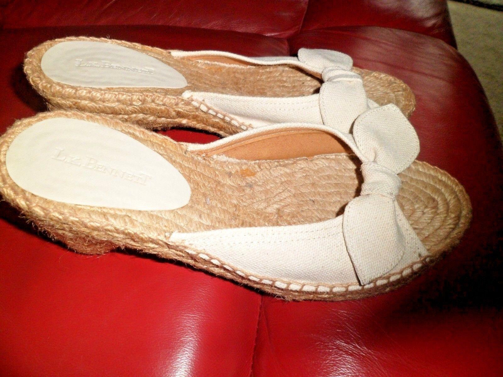 LK Bennett Slip On Cuña Crema Zapatos UK 6 EU EU EU 39 Nuevo  Venta barata