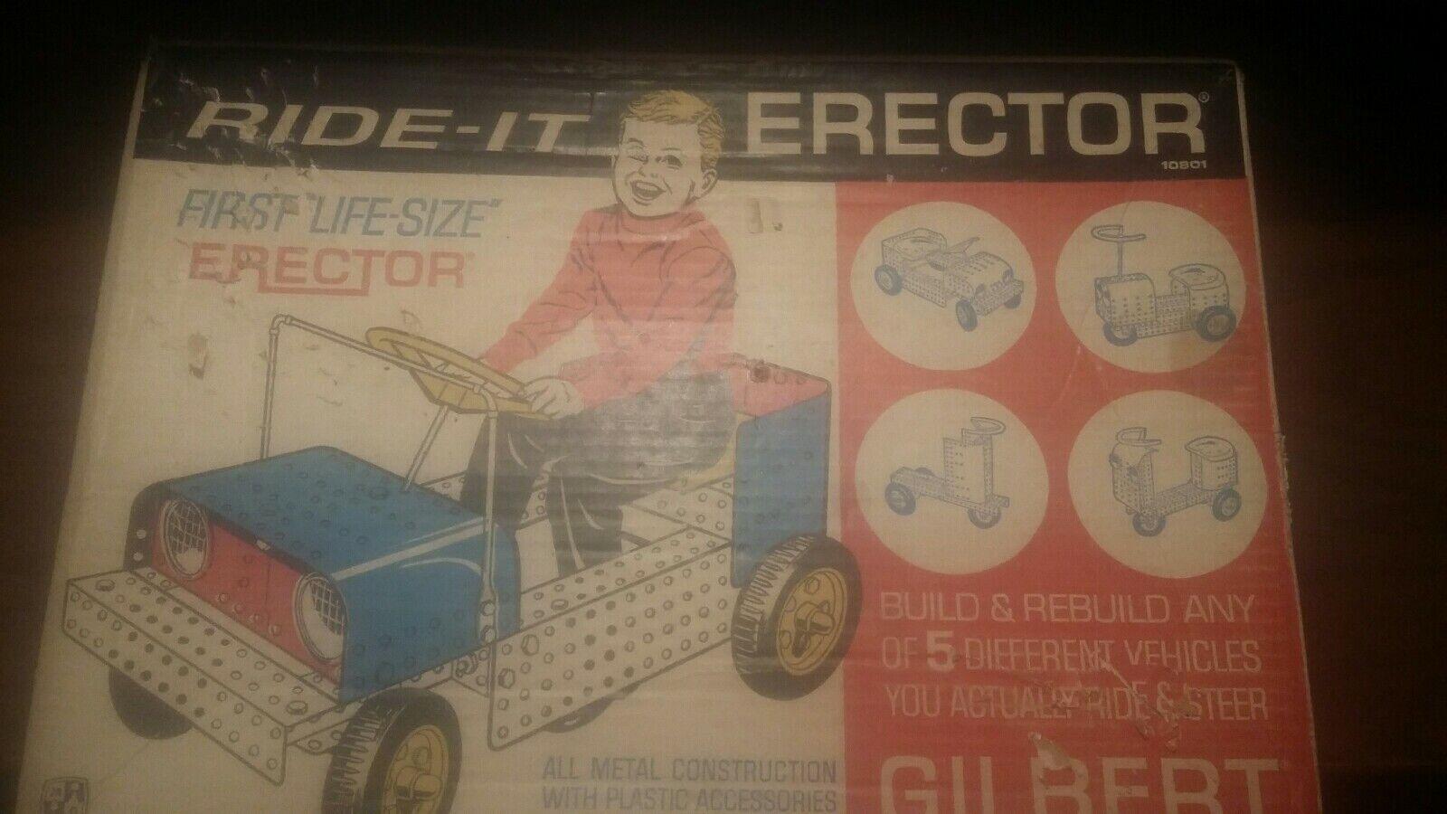 Gilbert montarlo Erector tamaño real 1965 en Caja 10801 vehículos Jeep 5 en 1