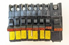 Federal Pacific Electric Circuit Breaker Lot Of 8 Type Nc 120vac 1 Pole 20amp