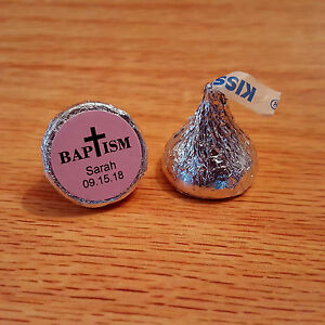 324-Personalized-Baptism-Christening-Hershey-Kiss-Stickers-Labels-Pink
