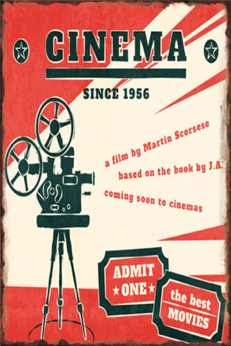 Metal Tin Sign 1966 cinema poster  Decor Bar Pub Home Vintage Retro