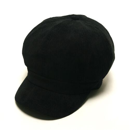 Unisexe Hommes Velours Côtelé Cordon Ajustée Baker Garçon Chauffeur gatsby Flat Cap Newsboy chapeaux