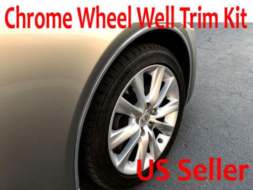 Set of 4 Chrome Fender Wheel Well Trim Molding For Chrysler 2002-2018 Models