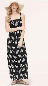 8abe44eba05b NWT Ann Taylor Loft Summer Leaves Maxi Dress  79.50 Black White