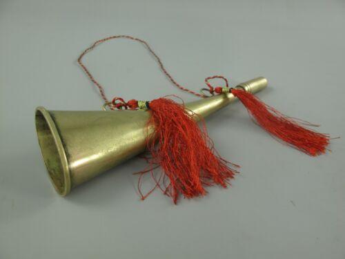 Jagdhorn Messing Fussball Vintage Musik Vintage Geschenk Blechblasinstrumente