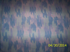 New Baby Blue Winter Woodland Camouflage (camo) Fleece fabric by the 1/4 yard