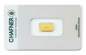 2 Gramm Goldbarren C.Hafner - Gold 999,9 Feingold Barren