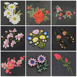 DIY Embroidered Motif Cloth Applique Iron On Patch Sew Clothing Decorations #013