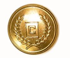 "Ralph Lauren Chaps ""C""  gold tone metal Replacement pocket sleeve button .60"""