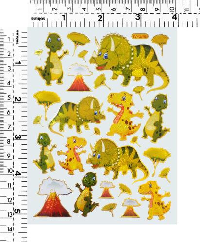 #S/_AD Dinosaur T-rex Triceratops Cartoon Children Craft Scrapbooking Stickers
