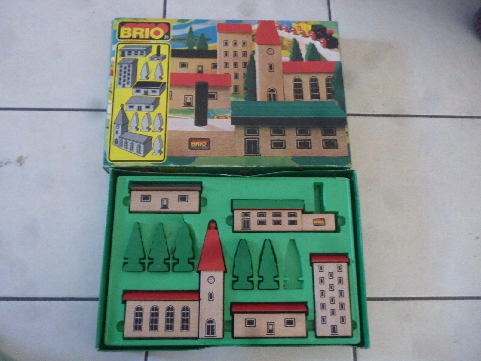 Vintage BRIO Wooden Train set 3374 31405/74 città town trenino legno