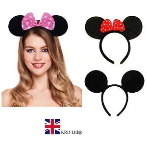 Cartoon Mouse Ears Band Headband Head Hair Alice Band Ladies Boys ... 3f44a76cbb1