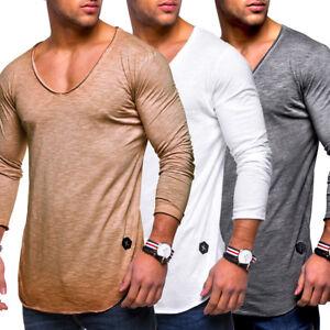 Behype-Herren-Oversize-Longsleeve-T-Shirt-Sweatshirt-Longline-Pullover-NEU
