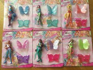 Details about Winx Club Dreamix Power dolls Set 6 mini 3D Figurines Figures  NEW series