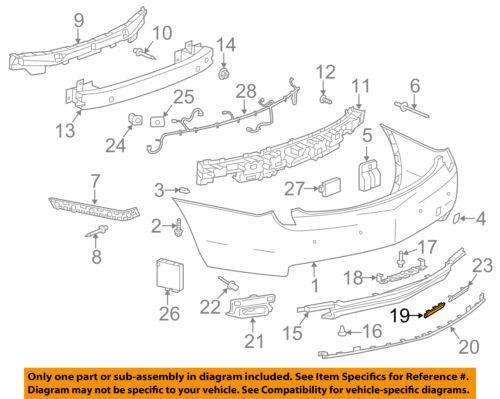 Cadillac GM OEM 13-17 XTS Rear Bumper-Lower Panel Filler Left 20901449