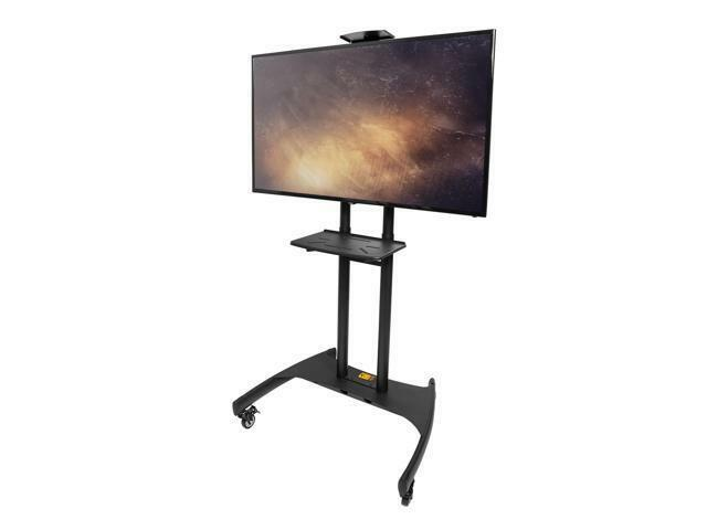 Kanto Mtm82pl Mobile Tv Stand With Adjustable Shelf And Flat Screen